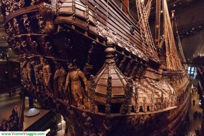 la poppa del Vasa, fotografata al museo di Stoccolma