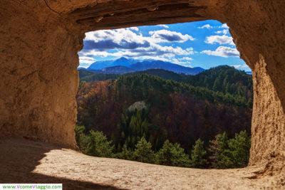 paesaggio della transilvania visto da Rasnov