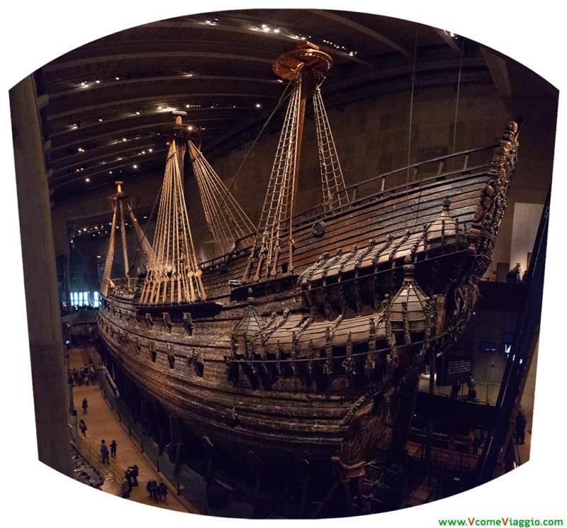La nave Vasa, esposta nel museo di Stoccolma