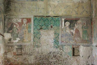 affreschi della torre cattolica nella chiesa fortificata di Biertan