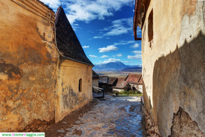 cittadella fortificata di Rasnov in Romania