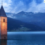 campanile sommerso al lago di resia