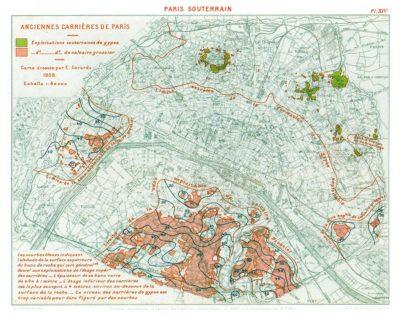 mappa dei sotterranei di parigi