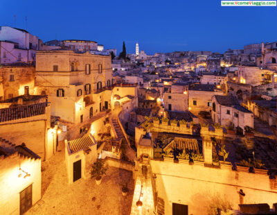 Matera all'imbrunire