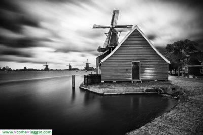 i mulini a vento di Zaanse Schans in Olanda