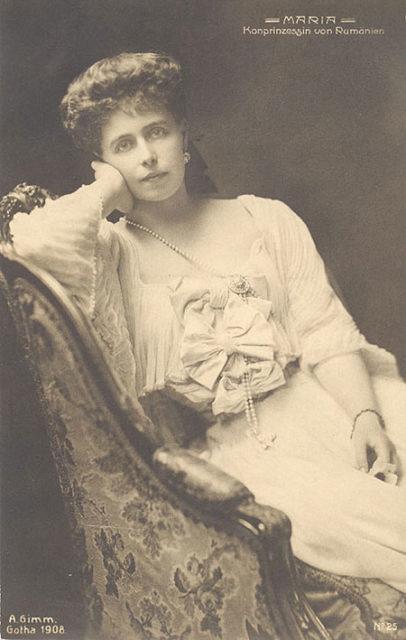 La regina Maria di Romania, che visse nel castello di bran