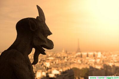 veduta dalla cima di notre dame a Parigi