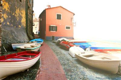 barche di pescatori a Tellaro