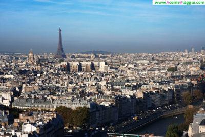 Veduta dalle torri di notre dame: uno dei migliori punti panoramici di parigi